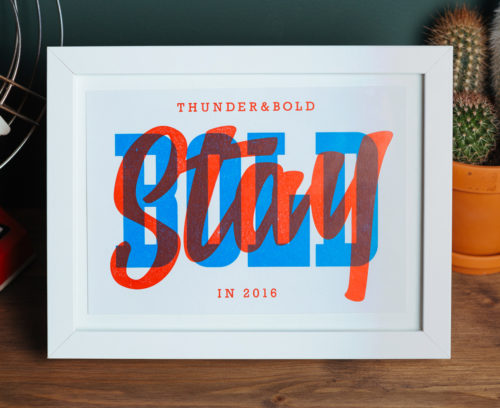 Stay Bold by Thunder and Bold